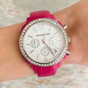 ♥️ Michael Kors ♥️ Hot Pink Acrylic Watch